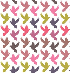 Colorful doves pattern vector