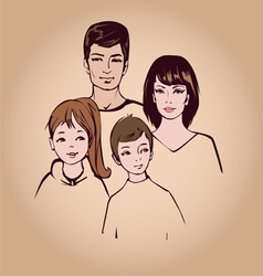 Happy family portret vector