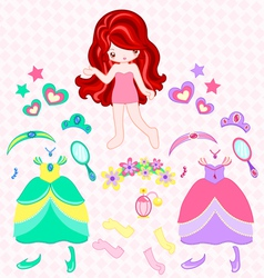 Princess dress up vector