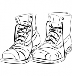 Old boots vector
