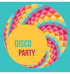 Colorful abstract background party poster design vector