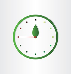 Eco clock concept time for ecology abstract design vector