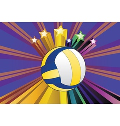 Volleyball ball background4 vector