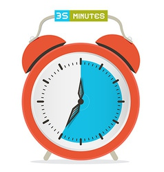 35 - thirty five minutes stop watch - alarm clock vector