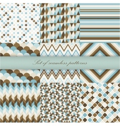 Set of seamless retro patterns vector