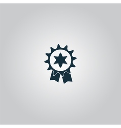 Award icon isolated on background vector