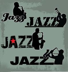 Jazz music headline vector