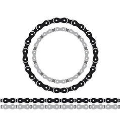 Bicycle chain silhouettes vector