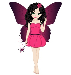 Magical little fairy vector
