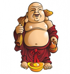 Laughing buddha vector