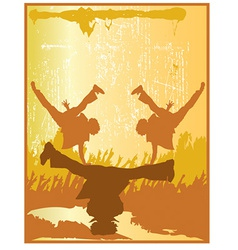 Breakdance silhouette vector
