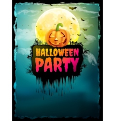 Happy halloween party poster eps 10 vector