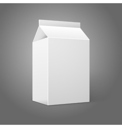 Realistic small white blank paper package for milk vector