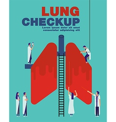 Lung checkup cover flat healthcare design vector