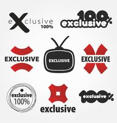 Exclusive logos vector