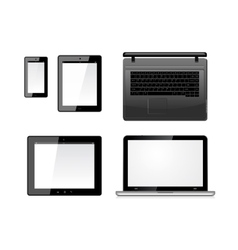 Laptop tablet pc computer and mobile smartphone vector