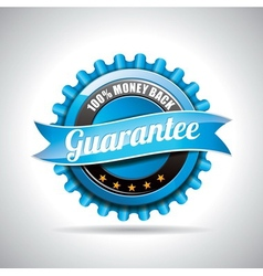 Guarantee labels with shiny styled design vector