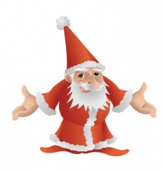 Father christmas character vector