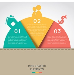Semicircle infographic elements concept vector