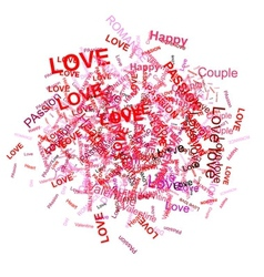 Love word background for your design vector