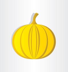 Orange pumpkin abstract design halloween symbol vector