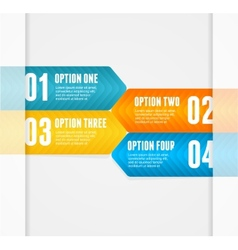 Infographics options banner 1 2 3 4 vector