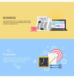 Business and office planning banners vector