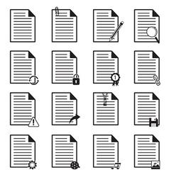 Document icons set vector
