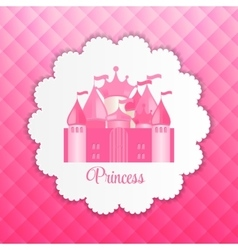Princess background with castle vector