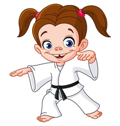 Karate girl vector