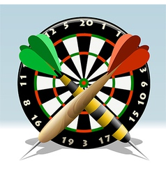 The dartboard vector
