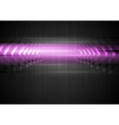Abstract glowing light with arrows vector