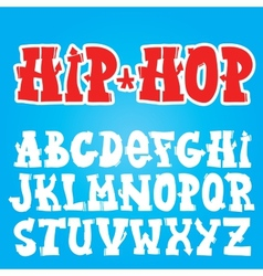 Old school graffiti font vector