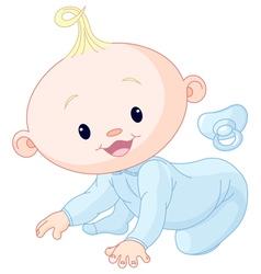 Cute creeping baby vector