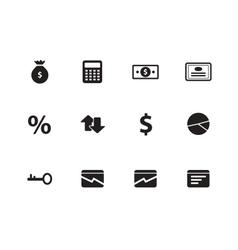 Economy icons on white background vector