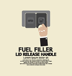 Fuel filler lid release handle vector