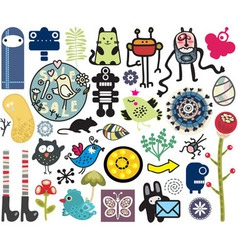 Misc cartoons vector