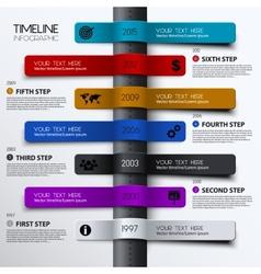 Timeline infographic modern simple design vector