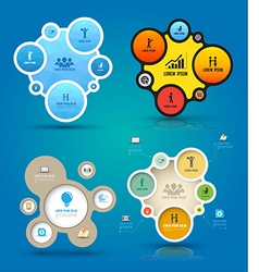 Infographic elements with icons set vector
