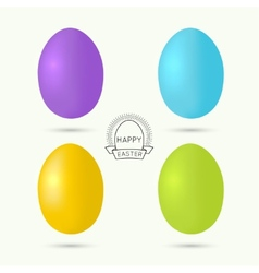 Set of colorful easter eggs vector
