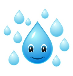 Smiling water droplet vector