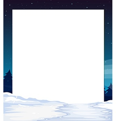 An empty paper template with a snow-covered land vector