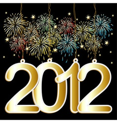 Happy new year tags vector