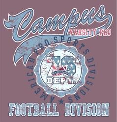 Pro football sport vector
