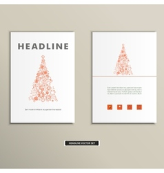 Book with a christmas tree on the cover vector