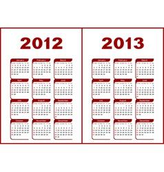 Calendar 2012 - 2013 vector
