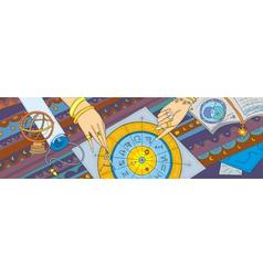 Astrology prognostication banner vector