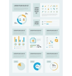 Healthcare infographic elements vector