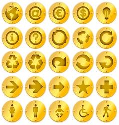 Metal logo icons vector