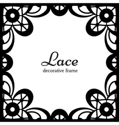 Square lace frame vector